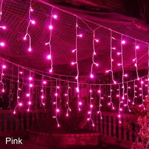 Pink Christmas Lights.Icicle Lights Led Icicle Lights Christmas Lights Christmas Icicle Lights 10m Icicle Lights Connect Icicle Lights Connectable Icicle Lights